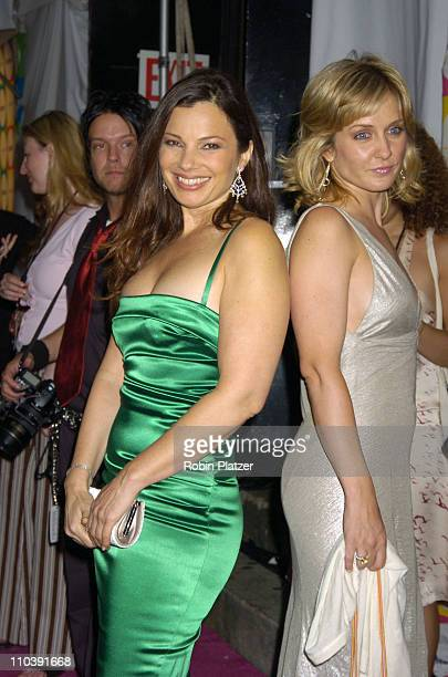 Fran Drescher and Amy Carlson during The Entertainment Weekly 'Must List' Party Arrivals at Deep in New York City New York United States