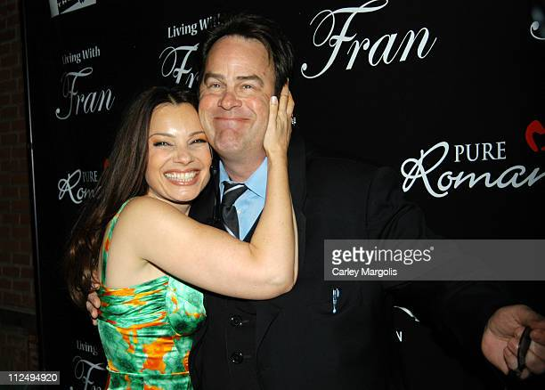 """Fran Drescher and Dan Aykroyd during Fran Drescher Celebrates The Premiere of """"Living With Fran"""" Sponsored by Pureromance.com at Cain in New York..."""