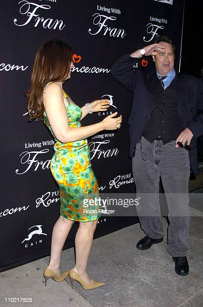 Fran Drescher and Dan Aykroyd during 'Living with Fran' Premiere Party Sponsored by PureRomancecom at Cain Lounge in New York City New York United...