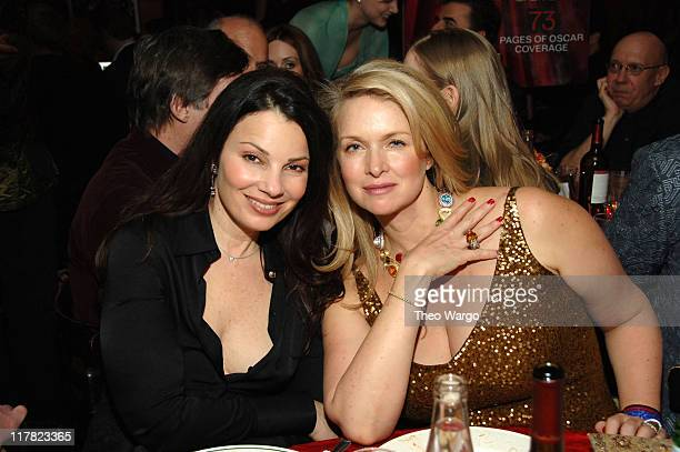 Fran Drescher and Donna Dixon during The 78th Annual Academy Awards Entertainment Weekly New York Viewing Party at Elaine's in New York City New York...