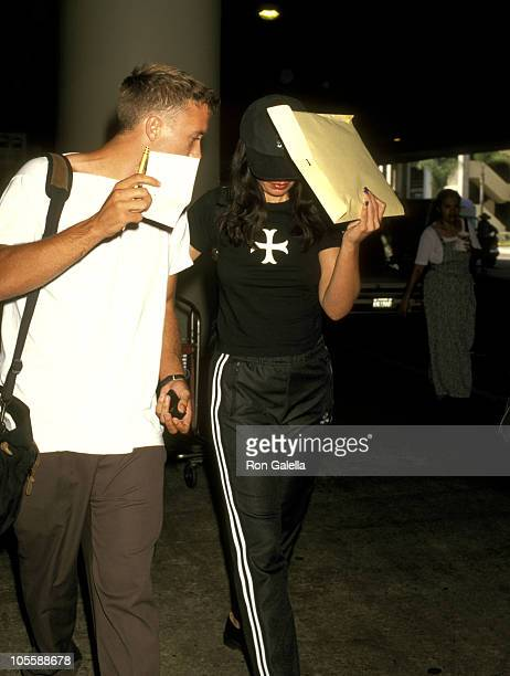 Fran Drescher and Friend during Fran Drescher and Friend at Los Angeles International Airport August 29 1997 at Los Angeles International Airport in...