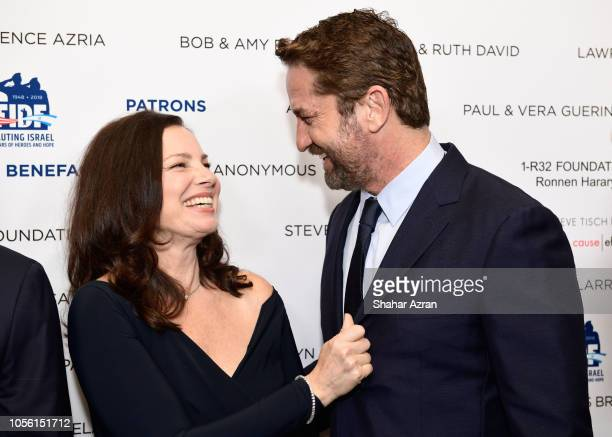Fran Drescher and Gerard Butler attend Friends of The Israel Defense Forces Western Region Gala at The Beverly Hilton Hotel on November 1 2018 in...