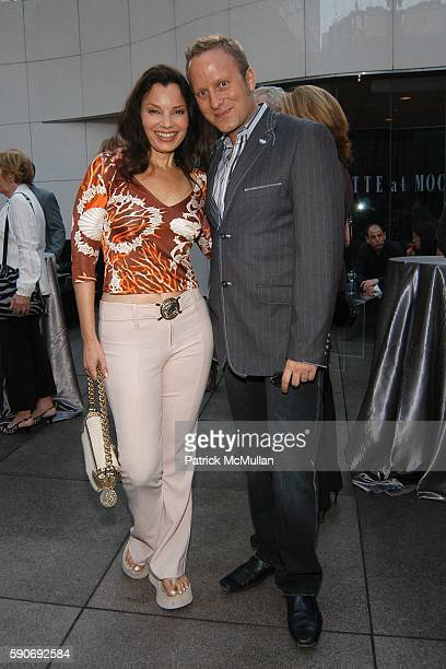 Fran Drescher and Gregory Arlt attend Basquiat Exhibition Preview at MOCA on July 15 2005 in Los Angeles CA