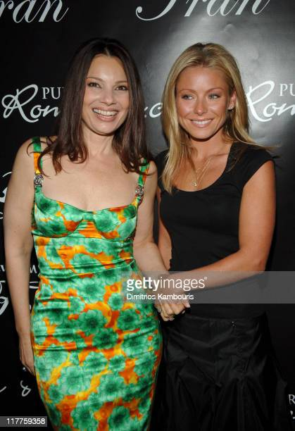 Fran Drescher and Kelly Ripa during Fran Drescher Celebrates the Premiere of 'Living With Fran' Sponsored by Pureromancecom at Cain in New York City...