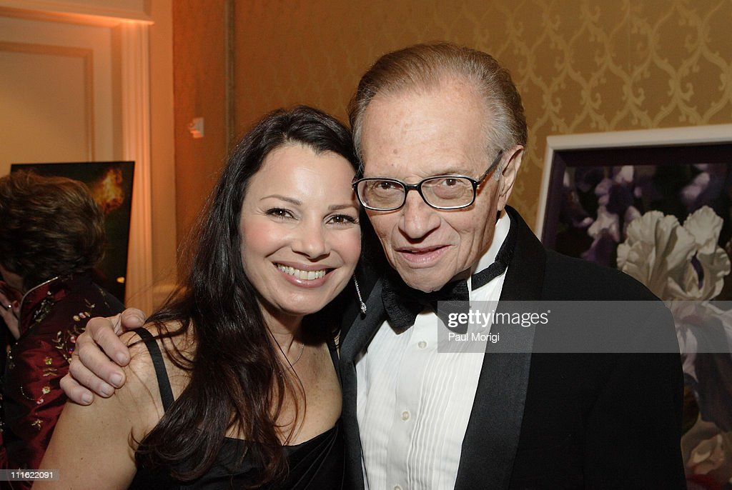 Fran Drescher and Larry King during An Evening with Larry King and Friends at The Ritz Carlton in Washington, DC, United States.