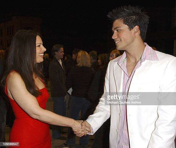 Fran Drescher and Michael Copon during The WB Television Network's 2005 All Star Party Inside at Warner Brother's Main Lot in Los Angeles California...