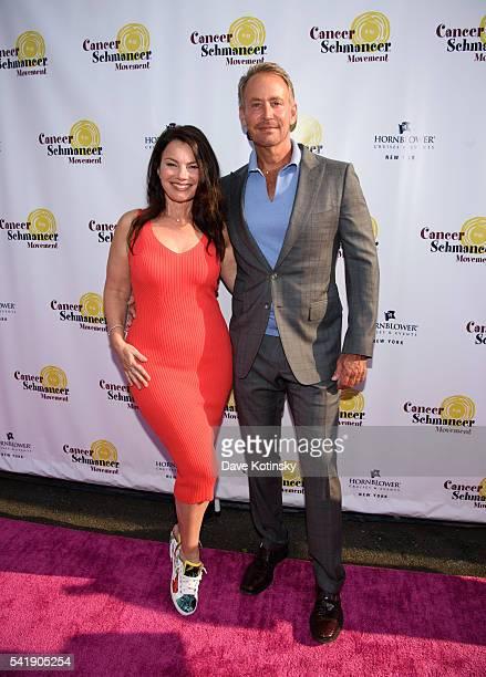 Fran Drescher and Peter Marc Jacobson arrive at Fran Drescher's 2016 Cabaret Cruise at Pier 40 on June 20 2016 in New York City