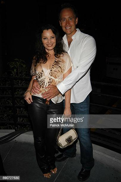 Fran Drescher and Peter Marc Jacobson attend 'Cocktails on Sunset' SAG Foundation Benefit Party at Argyle Hotel on July 16 2005 in Los Angeles CA