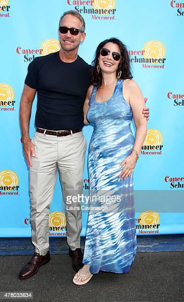 Fran Drescher and Peter Marc Jacobson attend Fran Drescher and Friends 2015 NYC Gay Pride Kick Off and Father's Day Celebration at Pier 40 on June 21...