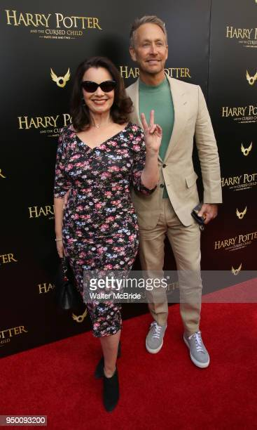 Fran Drescher and Peter Marc Jacobson attend the Broadway Opening Day performance of 'Harry Potter and the Cursed Child Parts One and Two' at The...