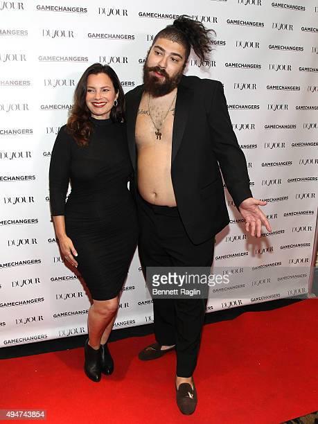 Fran Drescher and The Fat Jew attend as Jason Binn Nicole Vecchiarelli and Kevin Ryan celebrate DuJour Magazine's Special Gamechangers issue on...