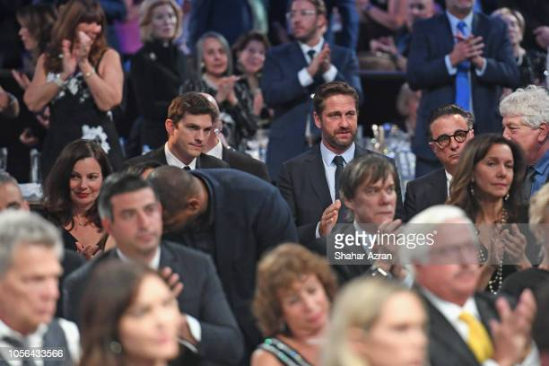 Fran Drescher Ashton Kutcher and Gerard Butler attend Friends of The Israel Defense Forces Western Region Gala at The Beverly Hilton Hotel on...