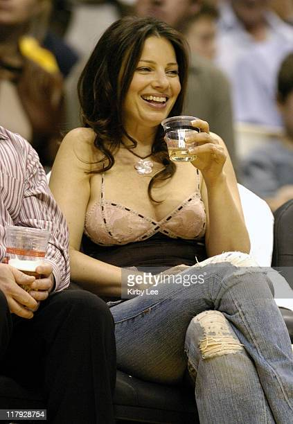 Fran Drescher at Los Angeles Lakers game against the Minnesota Timberwolves at the Staples Center in Los Angeles Calif on Thursday March 31 2005