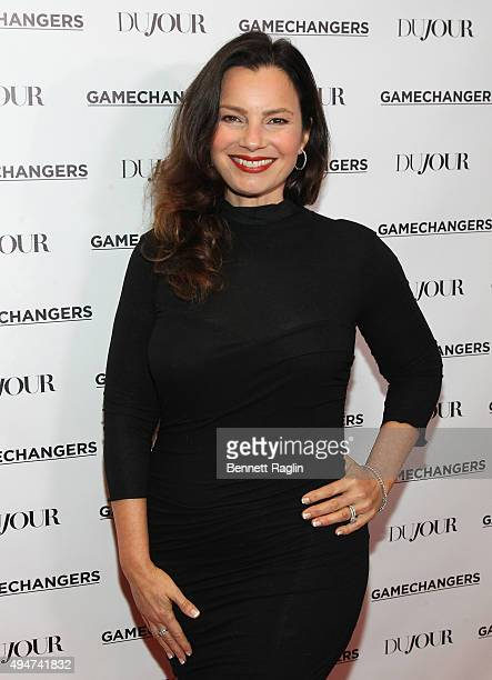 Fran Drescher attends as Jason Binn, Nicole Vecchiarelli and Kevin Ryan celebrate DuJour Magazine's Special Gamechangers issue on October 28, 2015 in...