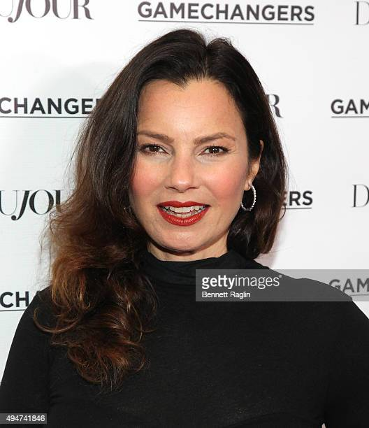 Fran Drescher attends as Jason Binn Nicole Vecchiarelli and Kevin Ryan celebrate DuJour Magazine's Special Gamechangers issue on October 28 2015 in...