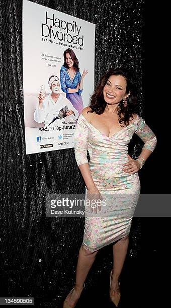 Fran Drescher attends the exclusive screening of TV Land's sitcom 'Happily Divorced' hosted by Fran Drescher at Industry Bar on June 15 2011 in New...