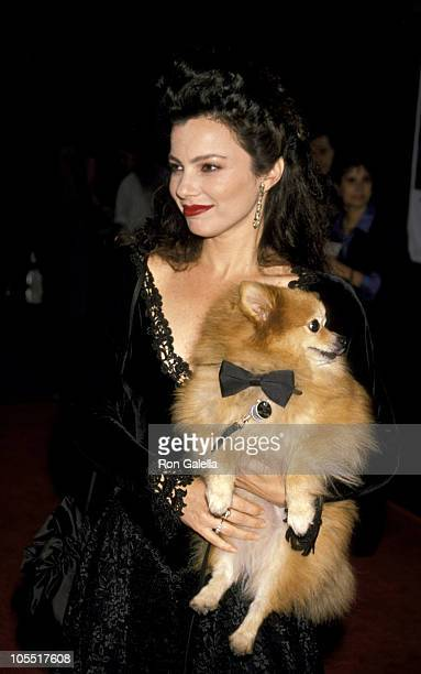 Fran Drescher Dog Chester during 'Cadillac Man' New York City Premiere at Zeigfeld Theater in New York City New York United States