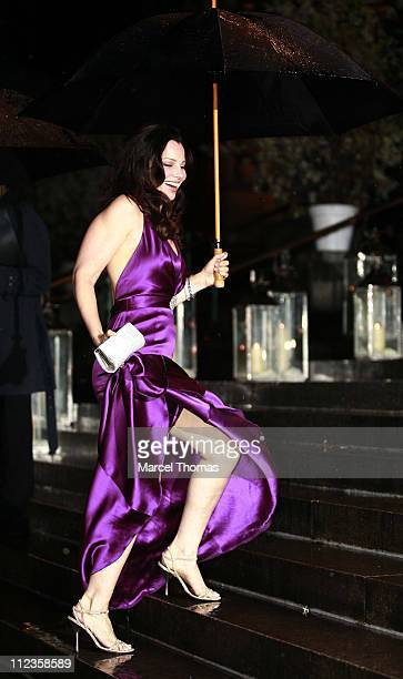 Fran Drescher during Elton John's 60th Birthday Party at St John the Divine Church in New York City New York United States