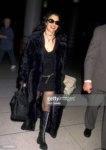 Fran Drescher during Fran Drescher at Los Angeles International Airport February 8 1998 at Los Angeles International Airport in Los Angeles...