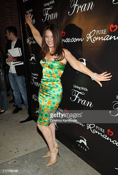 Fran Drescher during Fran Drescher Celebrates the Premiere of Living With Fran Sponsored by Pureromancecom at Cain in New York City New York United...
