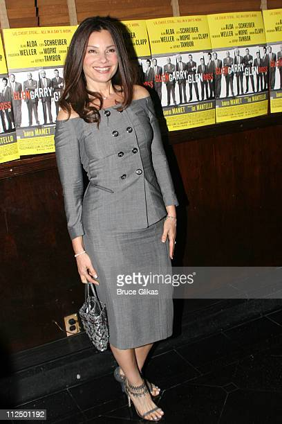 Fran Drescher during 'Glengarry Glen Ross' Broadway Opening Night Curtain Call and After Party at The Royale Theater and Sardi's in New York City New...