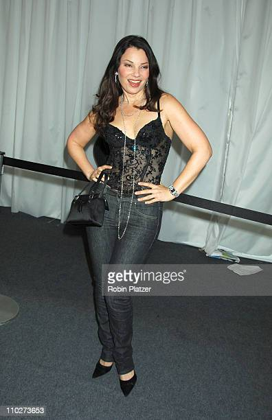 Fran Drescher during Olympus Fashion Week Fall 2006 Baby Phat Inside Arrivals and Departures at The Tent Bryant Park in New York City New York United...