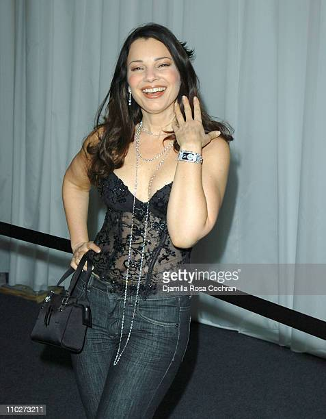 Fran Drescher during Olympus Fashion Week Fall 2006 Seen Around Tent Day 1 at Bryant Park in New York City New York United States