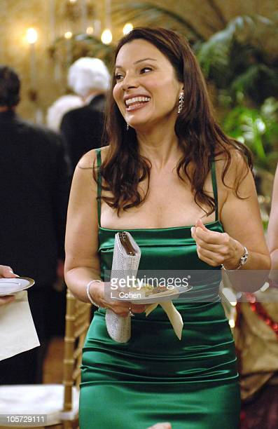 Fran Drescher during On the Set of The WB's 'Living With Fran' August 5 2005 at Sony Studios in Culver City California United States
