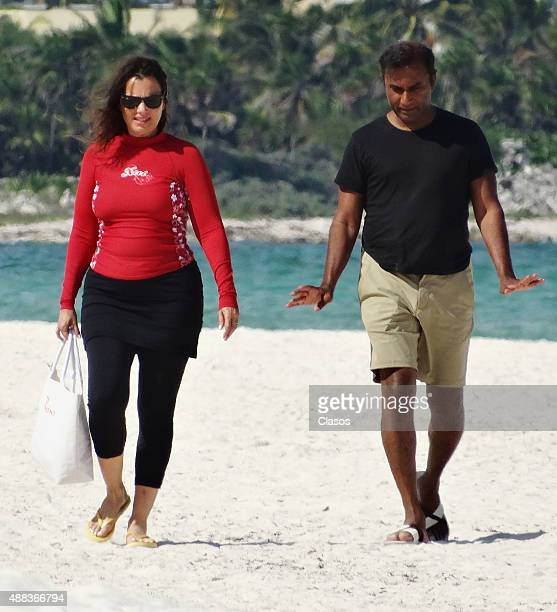 Fran Drescher enjoys a vacation on September 15 2015 in Cancun Mexico