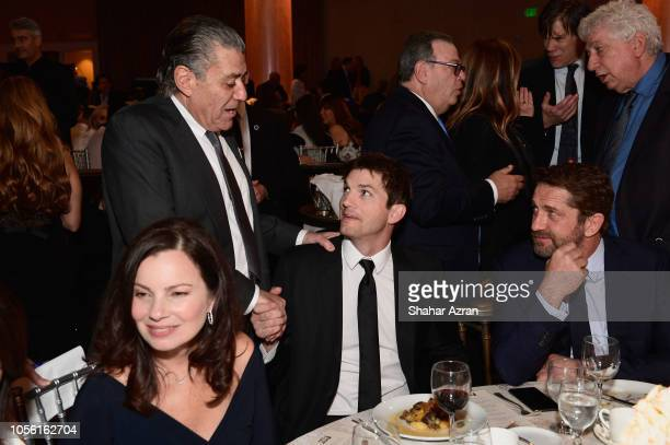 Fran Drescher Haim Saban Ashton Kutcher and Gerard Butler attend Friends of The Israel Defense Forces Western Region Gala at The Beverly Hilton Hotel...