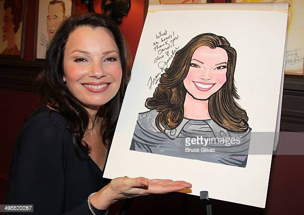 Fran Drescher in honor of her performance in Broadway's 'Cinderella' she gets her caricature unveiled at Sardis on June 3 2014 in New York City