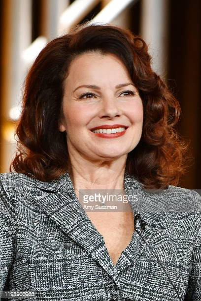Fran Drescher of Indebted speaks during the NBCUniversal segment of the 2020 Winter TCA Press Tour at The Langham Huntington Pasadena on January 11...