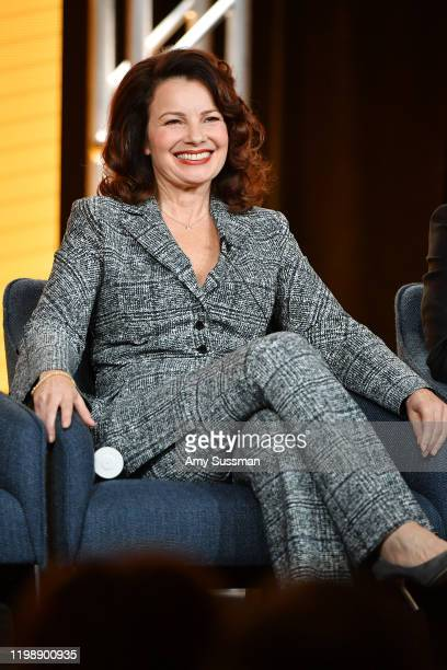 "Fran Drescher of ""Indebted"" speaks during the NBCUniversal segment of the 2020 Winter TCA Press Tour at The Langham Huntington, Pasadena on January..."