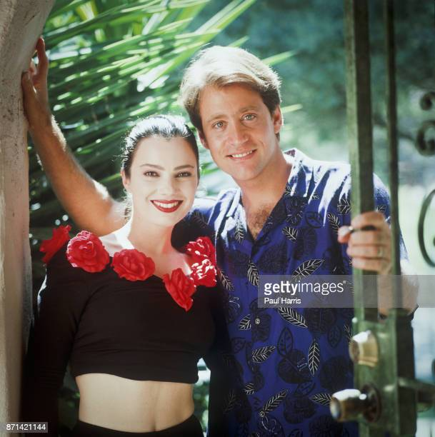 """Fran Drescher, pictured here with ex-husband Peter Marc Jacobsen at their Studio City home on June 15, 1990 in Studio City, California """"n""""n"""
