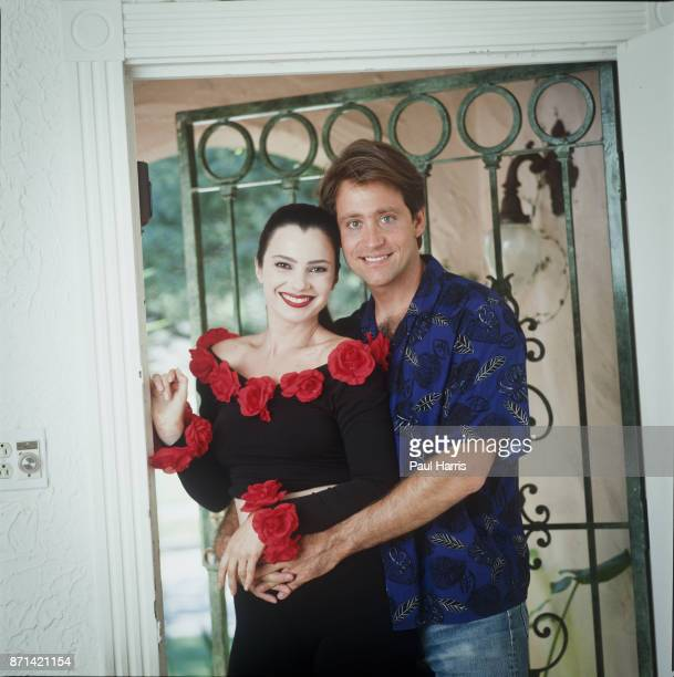 "Fran Drescher, pictured here with ex-husband Peter Marc Jacobsen at their Studio City home on June 15, 1990 in Studio City, California ""n""n"