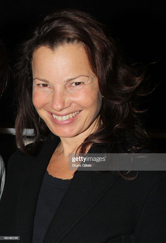 Fran Drescher poses backstage at 'First Date' on Broadway at The Lyceum Theater on September 29, 2013 in New York City.