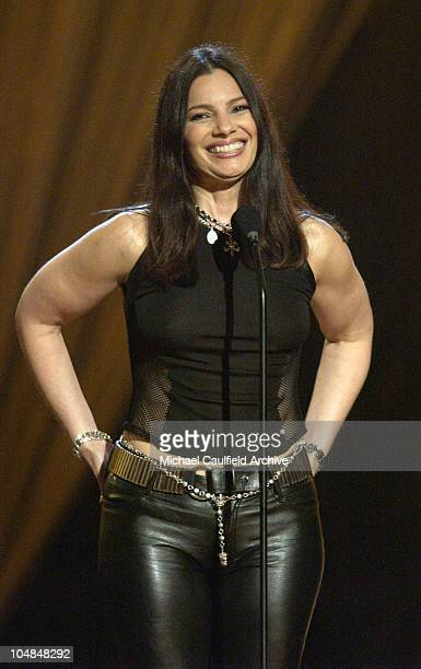 Fran Drescher speaks about breast cancer at Women Rock Girls Guitars airing on the Lifetime Television Network October 25th 2002 at 10pm