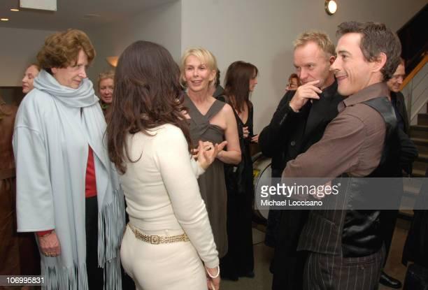 Fran Drescher Trudie Styler Sting and Robert Downey Jr