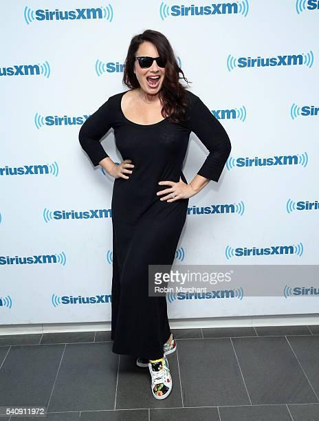 Fran Drescher visits at SiriusXM Studio on June 17 2016 in New York City