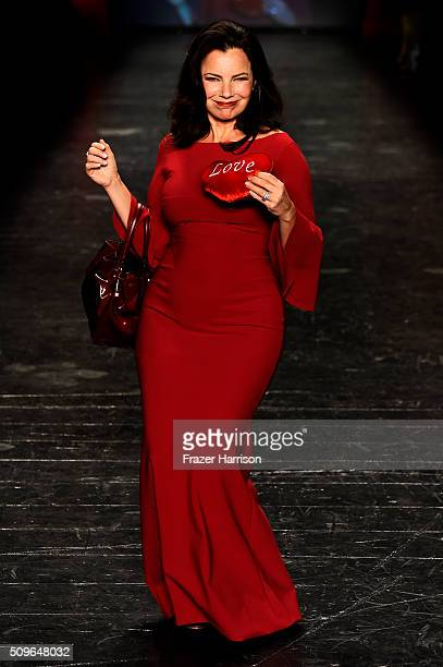 Fran Drescher walks the runway at The American Heart Association's Go Red For Women Red Dress Collection 2016 Presented By Macy's at The Arc,...