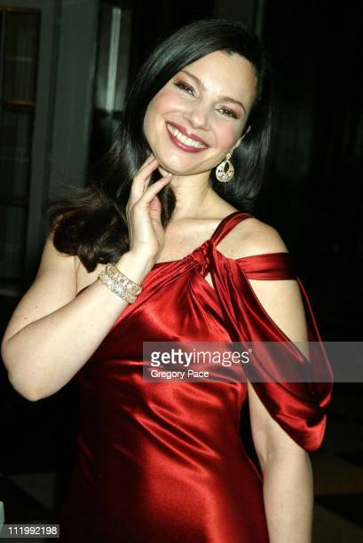 Fran Drescher wearing a Vera Wang dress and Van CleefArpel jewels