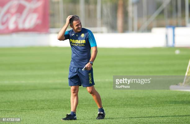 Fran Escriba during the first week of Villarreal CF training session at Ciudad Deportiva of Miralcamp July 14 in Vilareal Spain