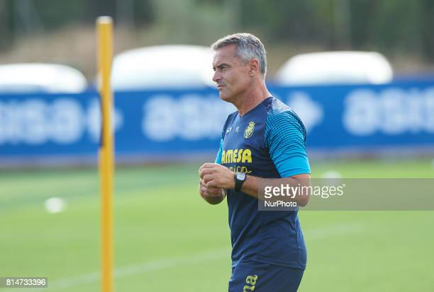 Fran Escriba head coach of Villarreal during the first week of Villarreal CF training session at Ciudad Deportiva of Miralcamp July 14 in Vilareal...