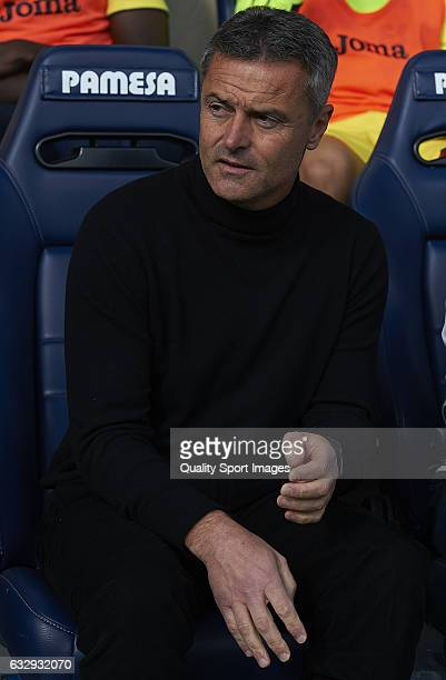 Fran Escriba Manager of Villarreal looks on prior the La Liga match between Villarreal CF and Granada CF at Estadio de la Ceramica on January 28 2017...