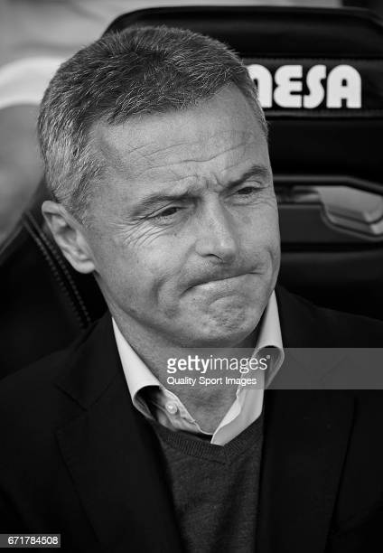Fran Escriba Manager of Villarreal looks on prior the La Liga match between Villarreal CF and CD Leganes at Estadio de la Ceramica on April 22 2017...