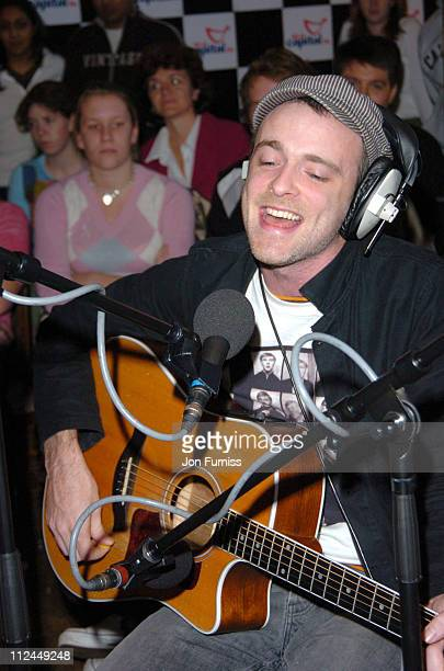 Fran Healy of Travis during Capital FM's Breakfast Show Outside Broadcast with Fran Healey at The North Star Pub Ealing in London Great Britain