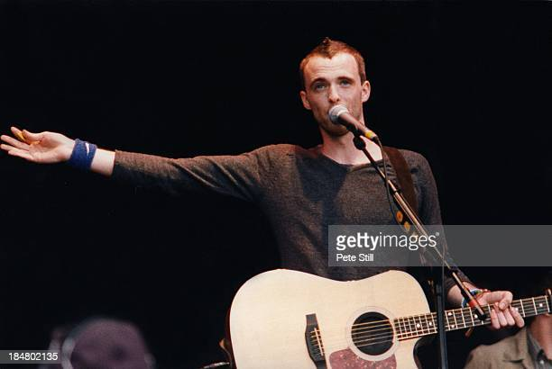 Fran Healy of Travis performs on stage at the Glastonbury Festival on June 27th 1999 in London England