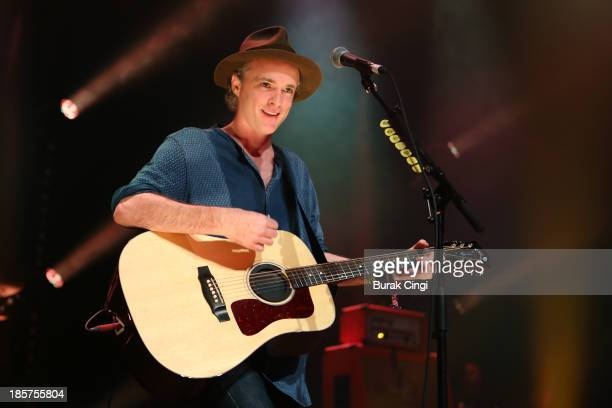 Fran Healy of Travis performs on stage at The Roundhouse on October 24 2013 in London England
