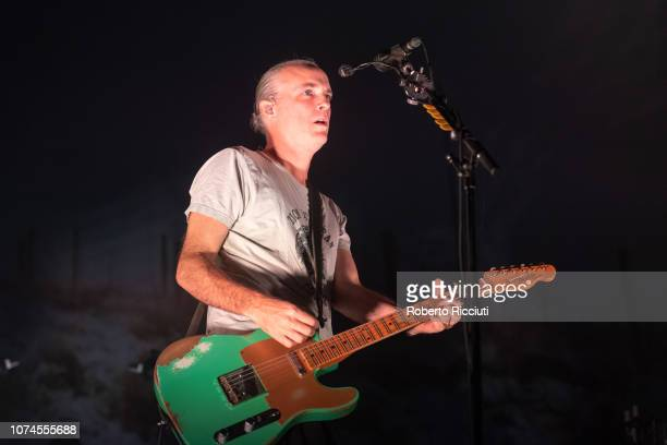 Fran Healy of Travis performs on stage at The SSE Hydro on December 21 2018 in Glasgow Scotland