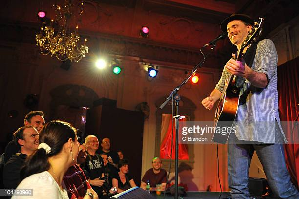 Fran Healy performs on stage at Bush Hall on September 16 2010 in London England